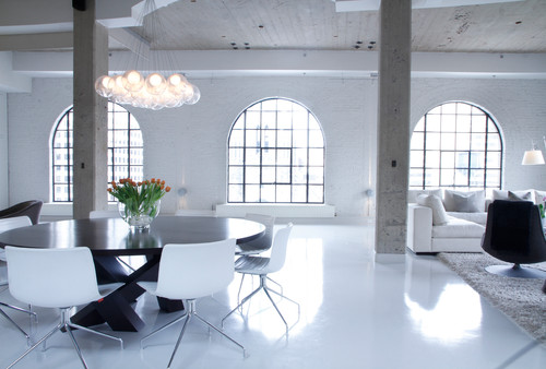 Industrial Living Room by Montreal Interior Designers & Decorators Esther Hershcovich