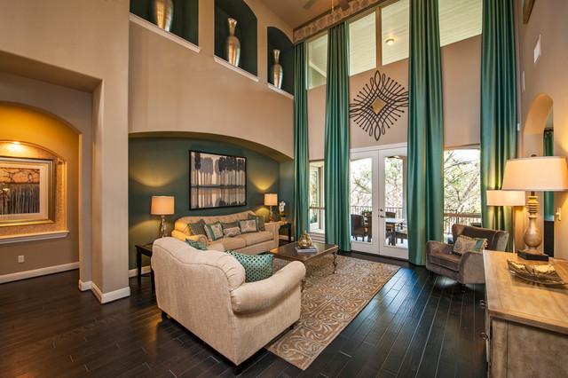 Juniper Plan at The Woods of Greenshores | Austin, TX traditional-living-room