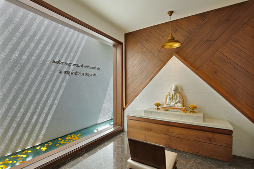 Enjoyable 12 Striking Puja Room Wall Ceiling Designs Interior Design Ideas Inesswwsoteloinfo