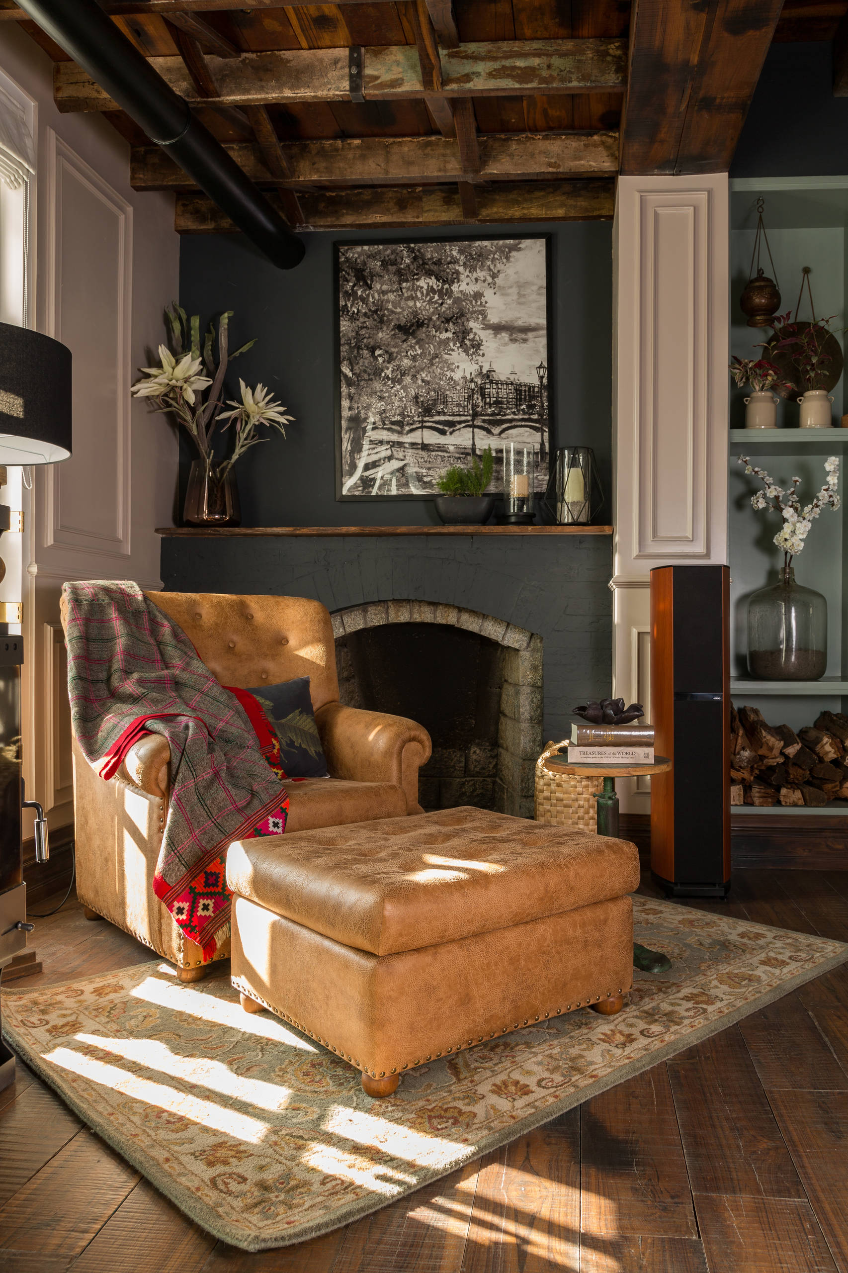 75 Beautiful Black Family Room With A Brick Fireplace Pictures Ideas March 2021 Houzz