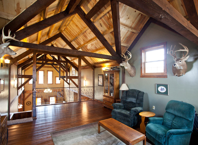 Kansas Barn Home traditional-living-room