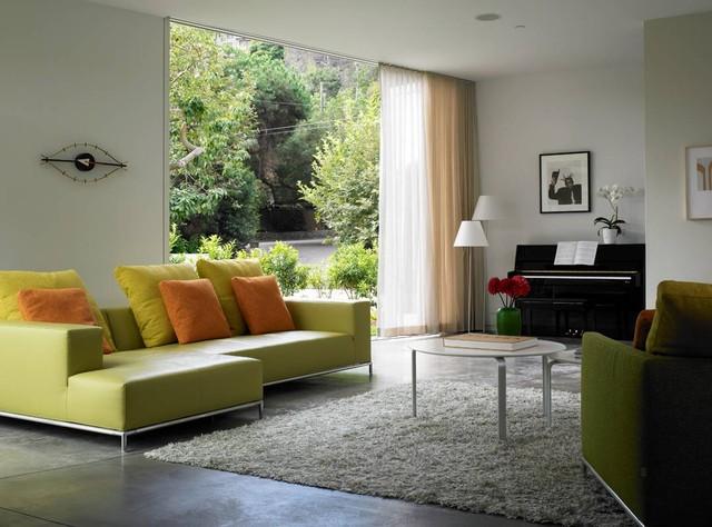 Kaplan Wright House LA modern-living-room