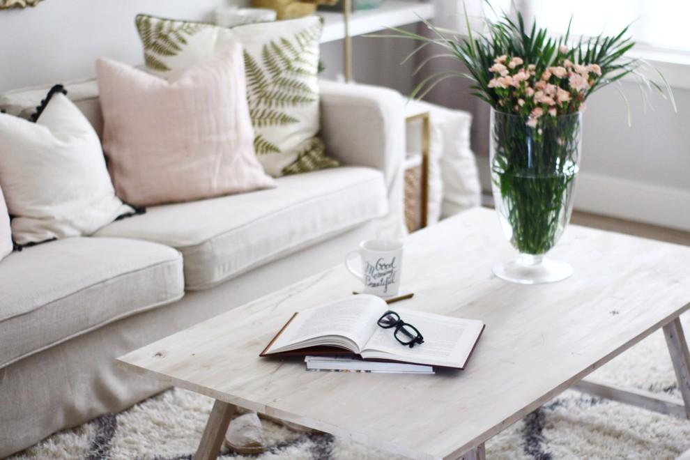Karlstad Sofa Cover In Long Skirt Linen