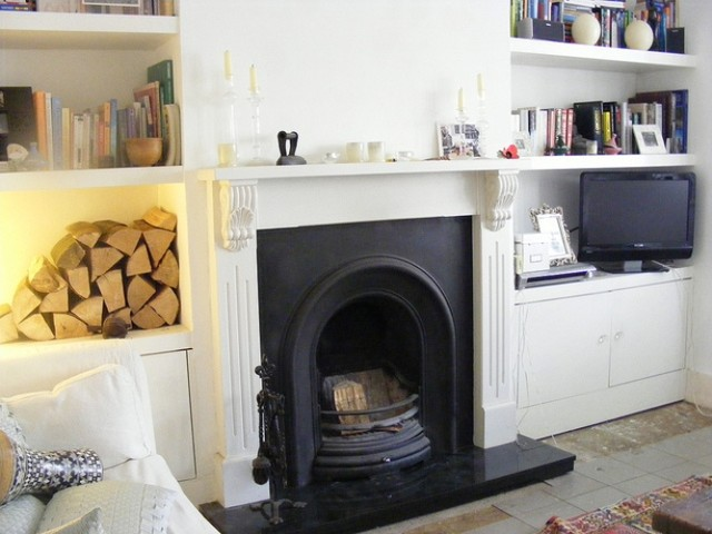 Kate Alcove Shelves And Cupboards Living Room London