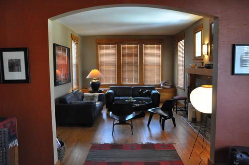 Craftsman Living Room by Oak Park Interior Designers & Decorators Kate Gangi ASID