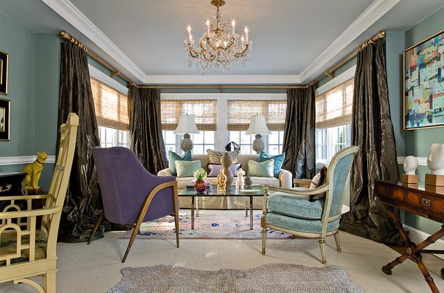 Katie Rosenfeld Interiors transitional-living-room