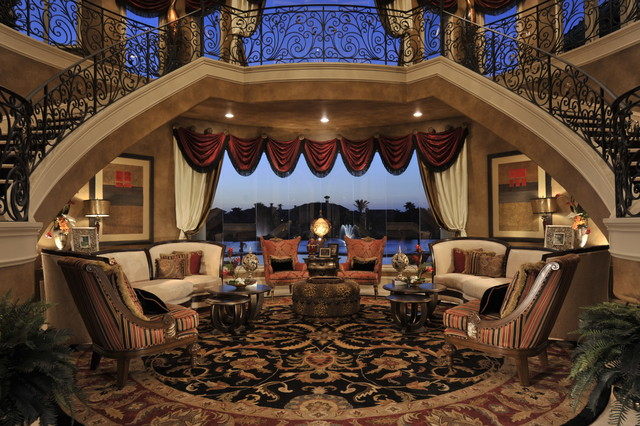 """The """"Wow"""" Factor -- Traditional Interior Design Jamil traditional-living-room"""