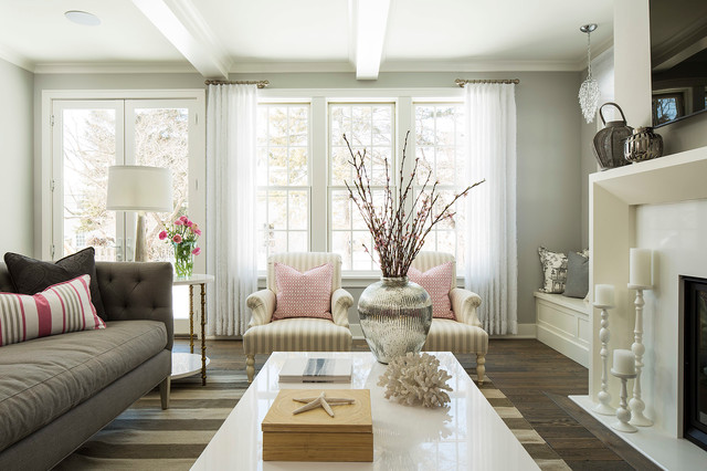Inspiration For A Beach Style Living Room Remodel In Minneapolis