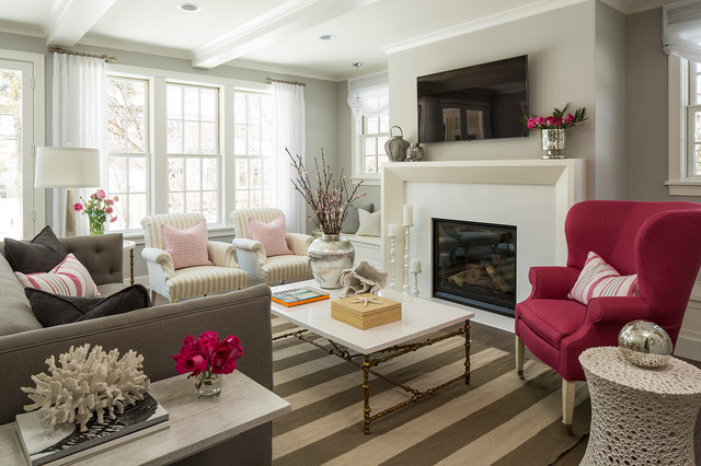 Inspiration For A Beach Style Living Room Remodel In Minneapolis With Gray  Walls Part 72