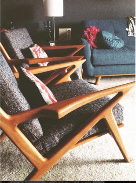 Kennedy Chairs Nixon Sofa Thrive Furniture Midcentury Living Room