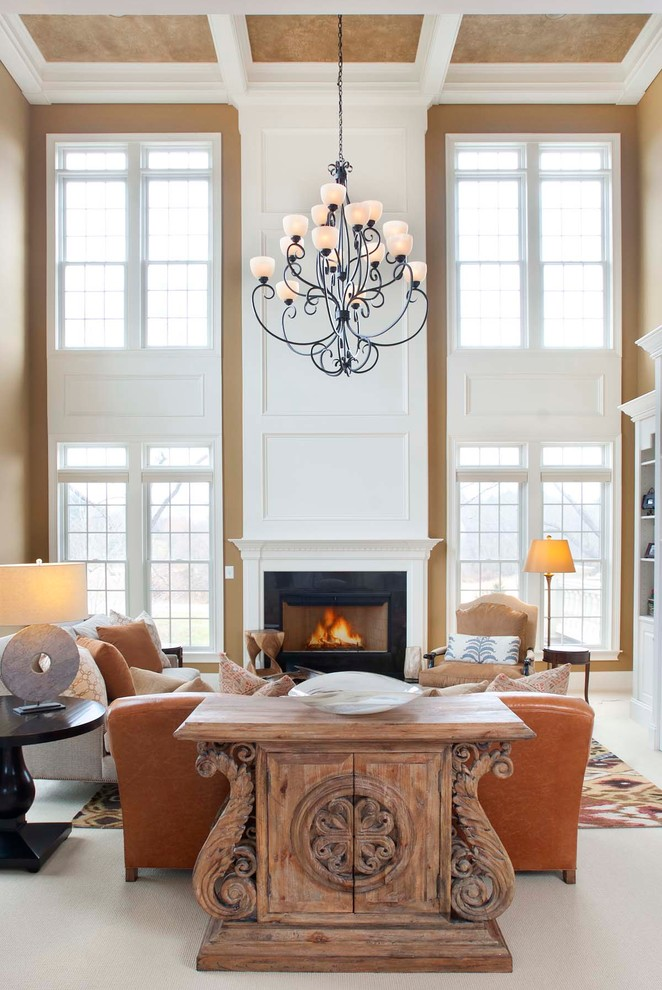 Living room - traditional formal living room idea in Philadelphia with a standard fireplace