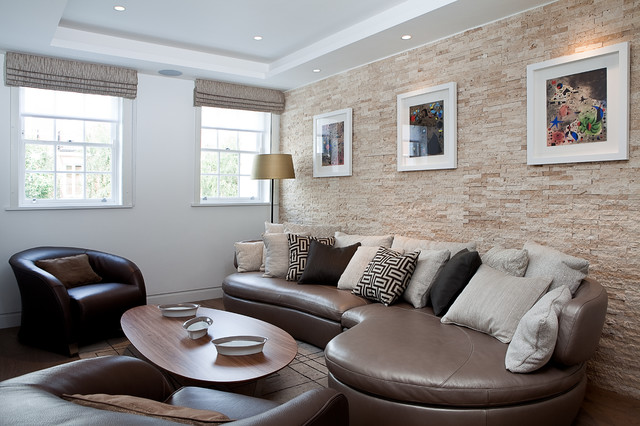 Inspiration For A Mid Sized Contemporary Living Room Remodel In London