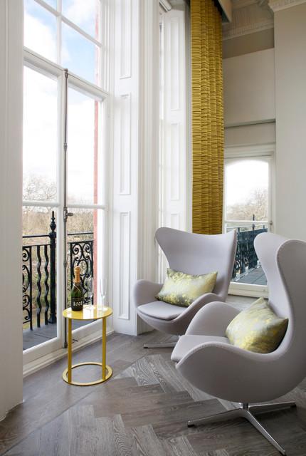 Kensington, London, UK contemporary-living-room
