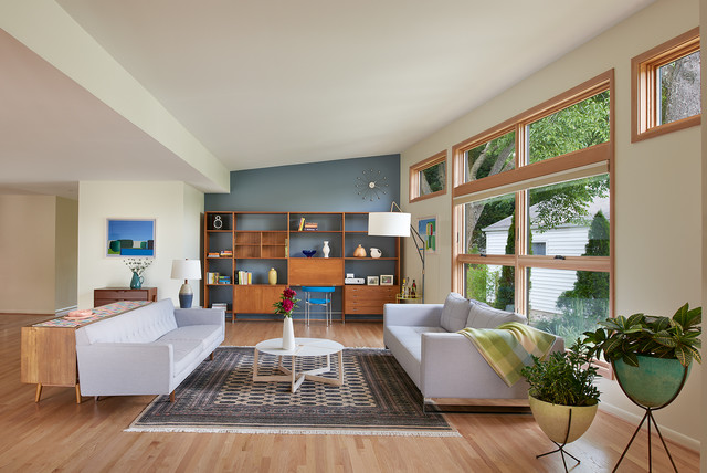 Kensington Mid-Century Addition/Renovation - Midcentury - Living ...