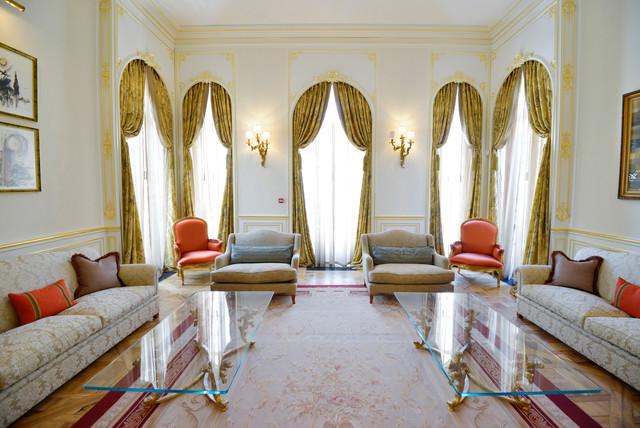 Kensington Palace Gardens W8 Transitional Living Room