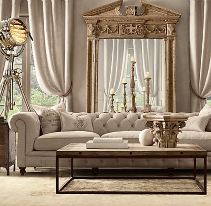 Kensington Upholstered Grand Sofa Restoration Hardware Living Room