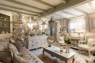 Kent cottage shabby chic style living room london - Deco maison shabby chic ...