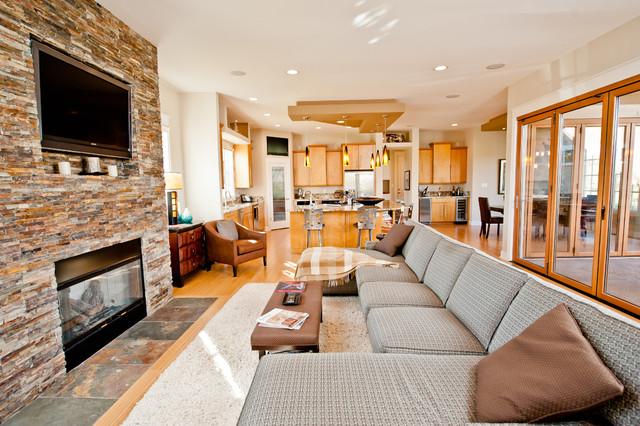 Kent Shaffer Builders contemporary-living-room