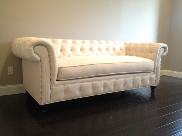 Kenzie Style Chesterfield Custom Sectional Sofas Traditional Living Room Los Angeles