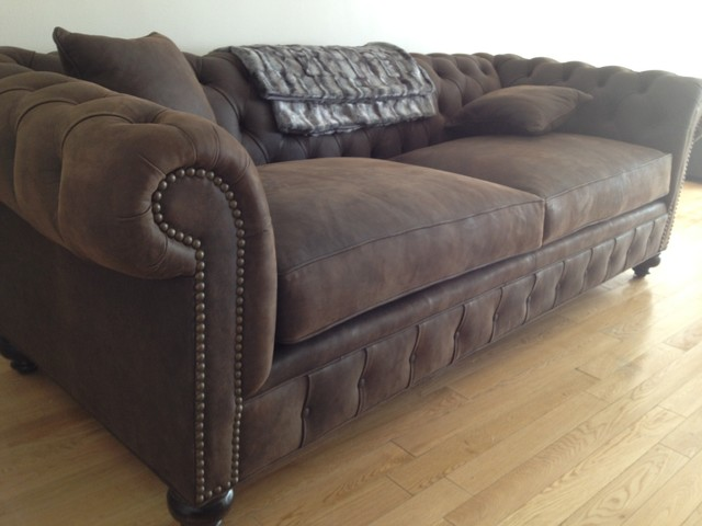 KENZIE STYLE   Chesterfield Custom Sectional Sofas Traditional Living Room