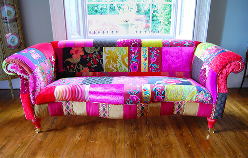Kerala Pathcwork Sofa asian living room