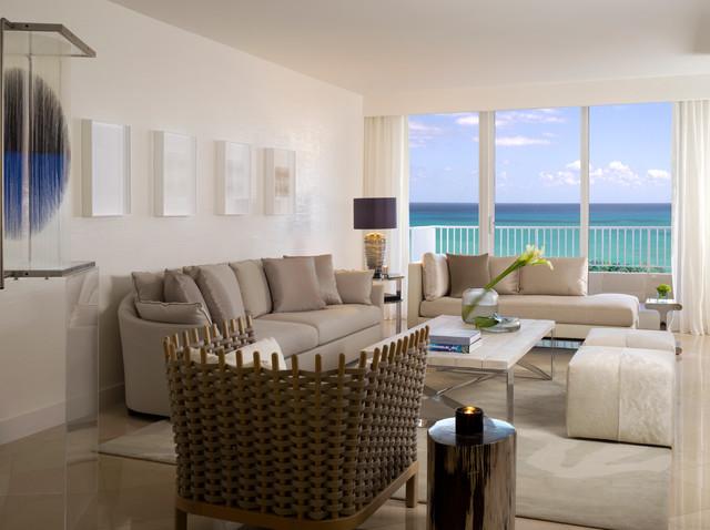 Key Biscayne Contemporary Living Room Miami By Verso Design