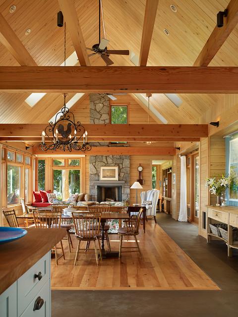 Key Peninsula Residence rustic-living-room
