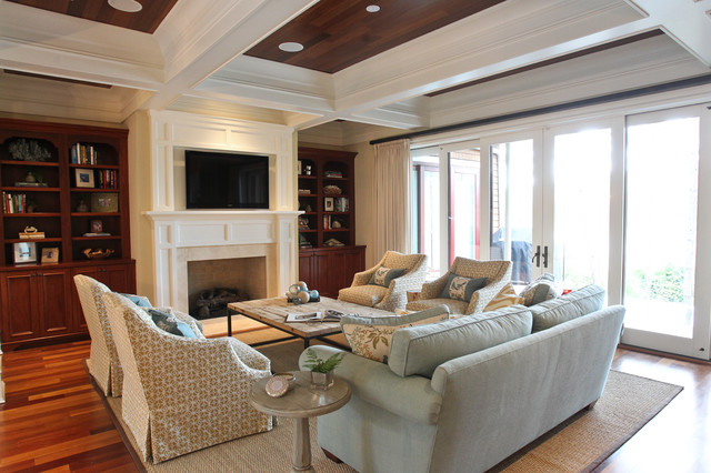 Kiawah family home beach style living room charleston by margaret donaldson interiors - Beach style living room ...