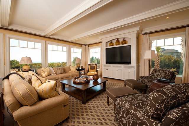 Kiawah Oceanfront traditional living room