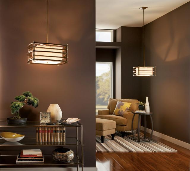 Kichler Lighting 42062cmz Moxie Cambridge Bronze Pendant Transitional Living Room Chicago