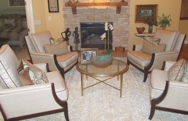 Kim Goidel Lexington Ky Homes Eclectic Living Room