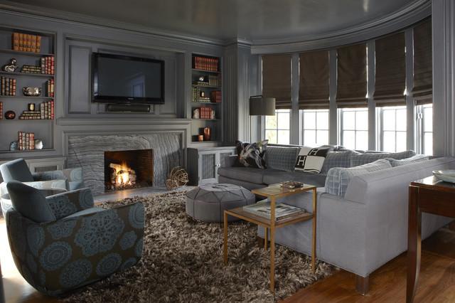 Kim Lambert Design - Whitney transitional-living-room