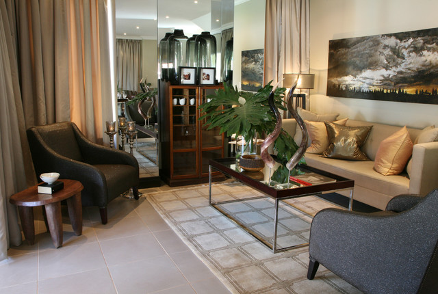 Elegant living room photo in Other