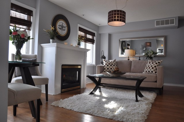 King West contemporary-living-room