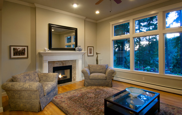 Kirkland renovation craftsman living room seattle for Kirkland living room ideas