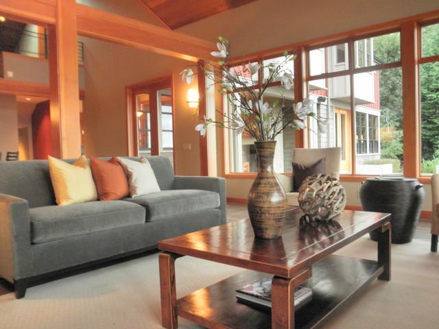 Kirkland waterfront contemporary living room seattle for Kirkland living room ideas