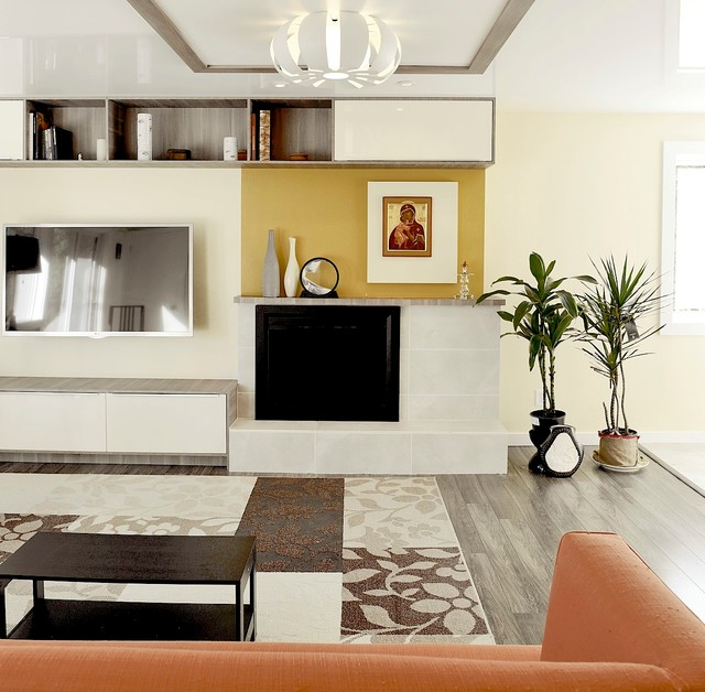 Kitchen and living design and remodel on a budget modern for Modern living room on a budget