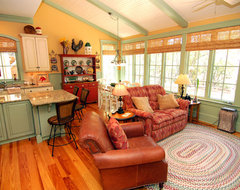 Kitchen and Sitting Area traditional-living-room