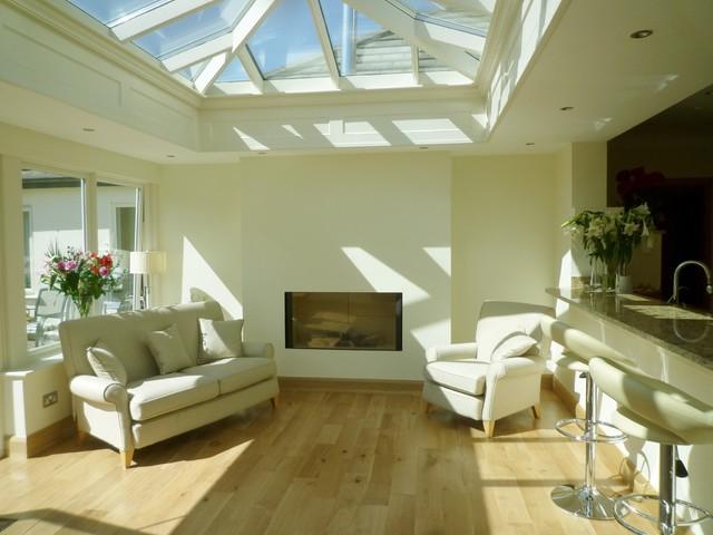 Kitchen orangery contemporary living room dublin for Living room dublin