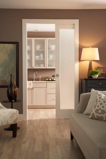 Kitchen Pocket Door 154068pf Contemporary Living Room