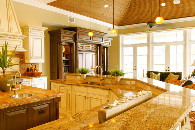 Kitchen Unit - Traditional - Living Room - miami - by Tracy Tyler Designs