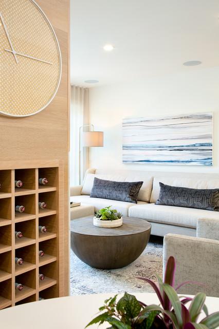 Kits Beach transitional-living-room