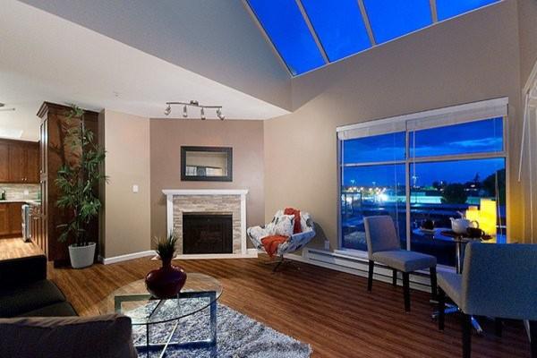 Kitsilano Penthouse modern-living-room