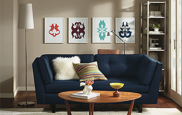 KleinReid & Eva Zeisel Silkscreens Living Room by R&B modern living room