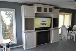 Kraftmaid Entertainment Center/Fireplace - Traditional - Living Room - cleveland - by Carter Lumber