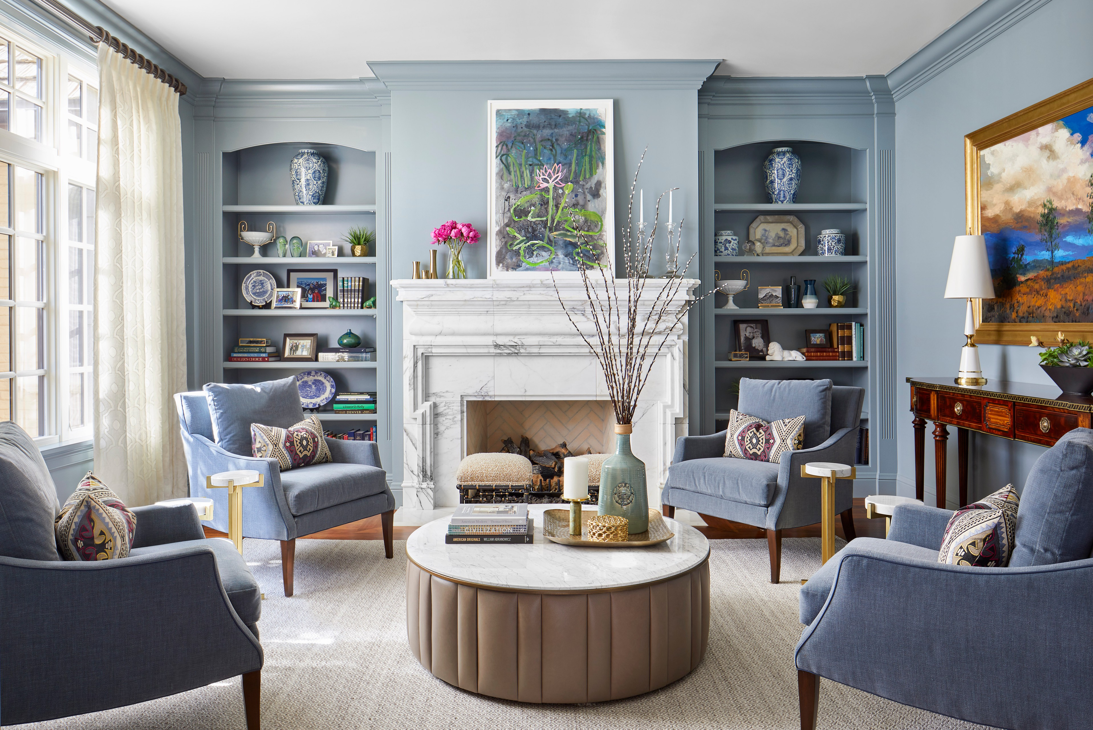 75 Beautiful Blue Living Room Pictures Ideas November 2020 Houzz
