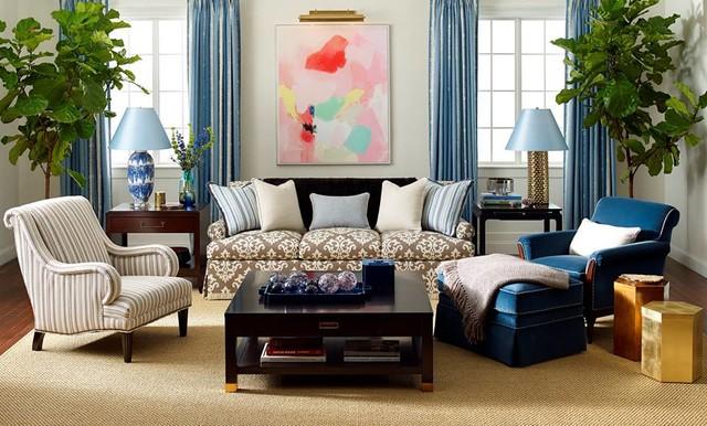 Kravet Designs contemporary-living-room