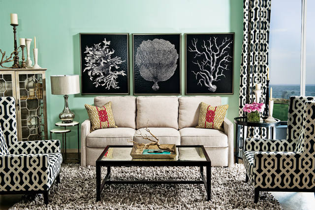 Kristina Sofa Cabana Bliss Eclectic Living Room By