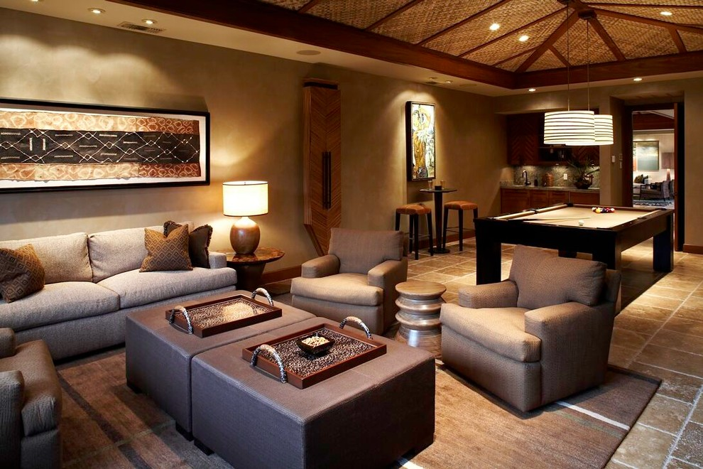 Inspiration for a tropical living room remodel in Hawaii