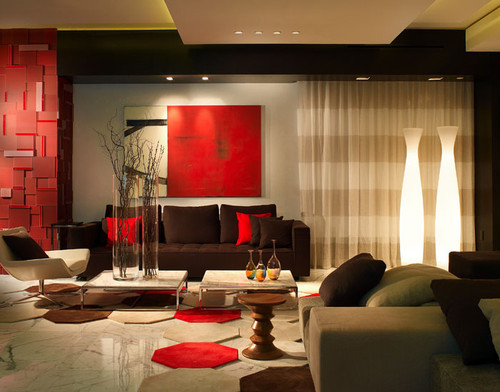 Modern residential interior: 6 color ideas for Interiors (PART II) modern living room